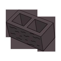 Блок заборный колотый 190 коричневый