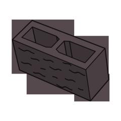 Блок заборный колотый 140 коричневый