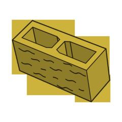 Блок заборный колотый 140 желтый