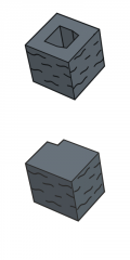 Блок заборный угловой, черный