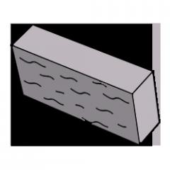 Фасадный камень серый