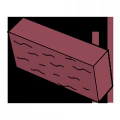 Фасадный камень красный