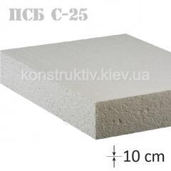 Пенопласт ПСБ-С-25 1 м * 0,5 м * 10 см
