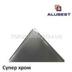 Плита А6/600х600 tegular супер-хром 741, Alubest