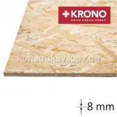ОSB плита КРОНО (1250*2500*8) влагостойкая