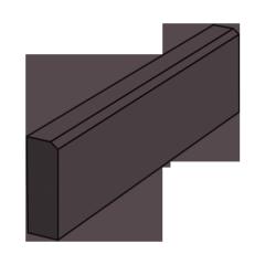 Тротуарный бордюр 500 коричневый