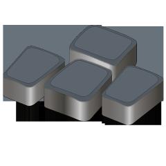 Тротуарная плитка Римский камень 60 черный