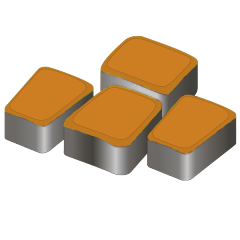 Тротуарная плитка Римский камень 60 оранжевый
