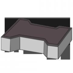 Тротуарная плитка Кость 80 коричневый