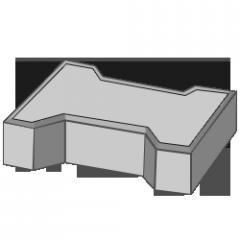 Тротуарная плитка Кость 80 серый