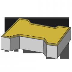 Тротуарная плитка Кость 80 желтый