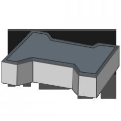 Тротуарная плитка Кость 80 черный