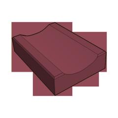 Бетонный отлив красный