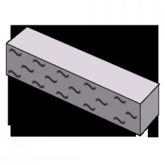 Кирпич колотый серый
