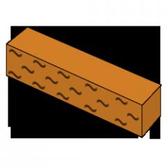 Кирпич колотый оранжевый