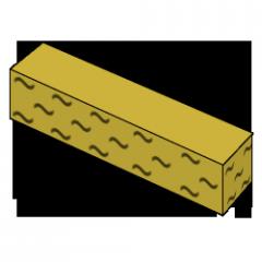 Кирпич колотый тычковой желтый