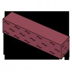 Кирпич колотый тычковой красный