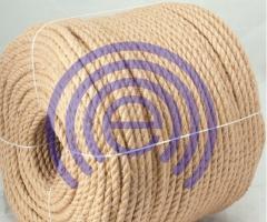 Trekhpryadny jute rope. The rope is jute. Jute
