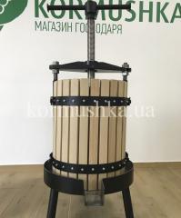 Пресс для винограда и фруктов 60 л дуб (Украина)