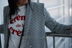 """Женское демисезонное пальто в """"гусиную"""