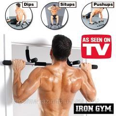 Horizontal bar in IRON Gym doorway