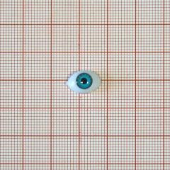 Глаз натуральн. форма, № 5060 6мм голубой, 1тыс.шт.