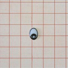 Глаз рисован. №9, овал 12*8мм, белый +черн. круглый зрачок , 1тыс.шт.