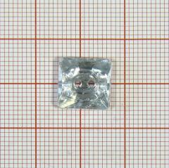 "Пуговица ""кристалл"" 2891 11мм белая квадратн. / Китай/, шт"