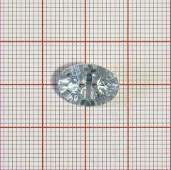 "Пуговица ""кристалл"" 3126 14мм белая овал / Китай/, шт"