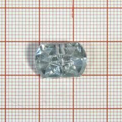 "Пуговица ""кристалл"" 3142 16мм белая прямоуг. / Китай/, шт"