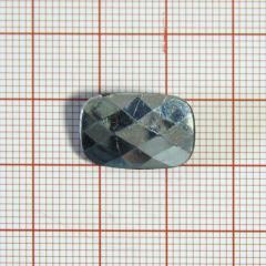 "Пуговица ""кристалл"" 3142 16мм св.хаки прямоуг. / Китай/, шт"
