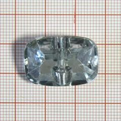 "Пуговица ""кристалл"" 3142 25мм белая прямоуг. / Китай/, шт"