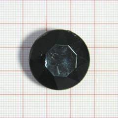 """Пуговица """"кристалл"""" 3143 25мм черная кругл. / Китай/, шт"""
