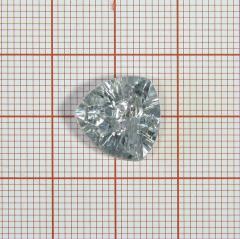 "Пуговица ""кристалл"" 3147 14мм белая треуг. / Китай/, шт"