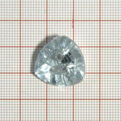 "Пуговица ""кристалл"" 3147 17мм белая треуг. / Китай/, шт"