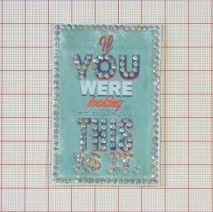 "Аппликация кл.стр. ""You This"" св.зеленый+цв.рис.+хамелеон камни, 45*70мм /Китай/ шт"