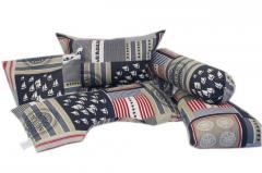 """Set of cushions """"Nautilus"""""""