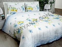 Ткань Бязь Silver для постельного белья N-4568-3-Blue