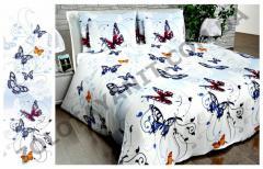 Ткань Бязь Люкс для постельного белья Uxt-399-2-Blue