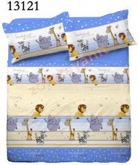 Ткань детская Бязь Gold для постельного белья 13121-1 Blue