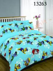Ткань детская Бязь Gold для постельного белья 13263 Blue