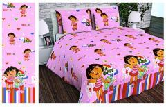 Ткань детская Бязь Gold для постельного белья 20631 Pink