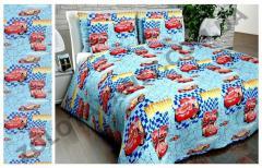 Ткань детская Бязь Gold для постельного белья N-6586-Blue