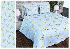 Ткань детская Бязь Gold для постельного белья Uxt-489-2-Blue