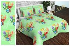 Ткань детская Бязь Gold для постельного белья Uxt-515 Green