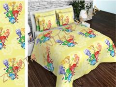 Ткань детская Бязь Gold для постельного белья Uxt-515-Yellow