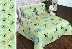 Ткань детская Бязь Gold для постельного белья Uxt-534-1-Green