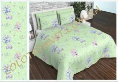Ткань детская Бязь Gold для постельного белья Uxt5362Green