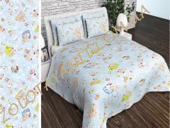 Ткань детская Бязь Gold для постельного белья Uxt549Blue0