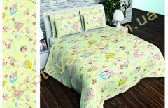 Ткань детская Бязь Gold для постельного белья Uxt-549-Yellow